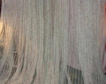 A huge vintage, net, 7 meters wide curtain Panel loft, 70's