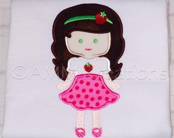 SAMPLE SALE Strawberry Shortcake Girl Applique Shirt