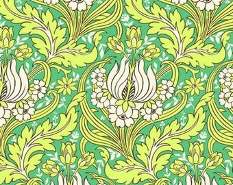 ON SALE Amy Butler HDAB030 Soul Blossoms Temple Tulips Emerald Home Decor Fabric By Yd