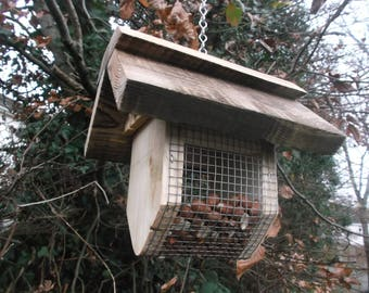 Wild bird nut feeder easy fill roof removed