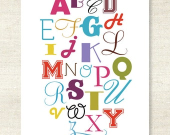 NEW - Playful English Alphabet Print