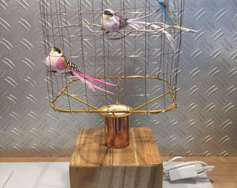 L'amour en Cage - mini version bird cage table lamp