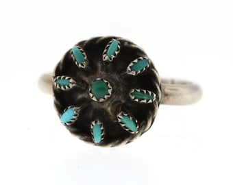 Vintage Turquoise Ring, Sterling Silver Turquoise Ring, Southwestern Jewelry