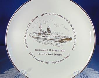 U.S.S Arizona Commemorative Plate
