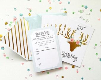 Fancy Pants Design Adorned Deer Invitations
