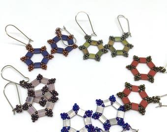 Beaded Earrings with Tila Beads