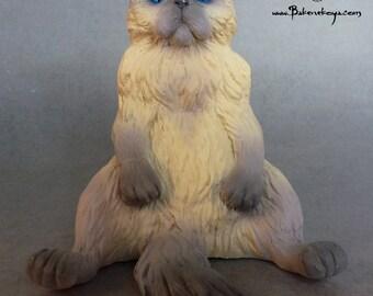 Persian cat sculpture – Lilac point