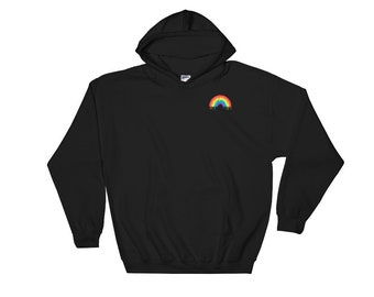 Melting Rainbow Hoodie | Psychedelic, Tumblr Aesthetic, Trippy, Gay Pride, LSD, Acid Sweater