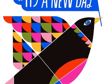 It's a New Day Print - Lisa Congdon