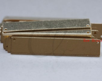 10 Pieces Raw Brass Rectangle Link - 41x8mm (3095C-M-302)
