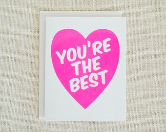 You're the best card   Etsy