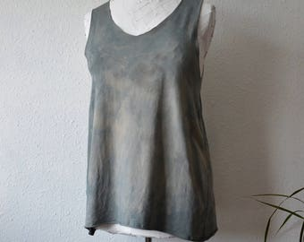 Hippie tunic dress alternative boho eco hand dyed grey earthy psy trance festival summer rustic maternity ethical environmental floaty