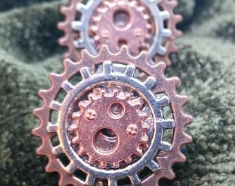 Steampunk cosplay cufflinks, cogs, gears