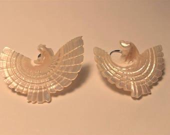 Vintage Mother of Pearl Drop Earrings