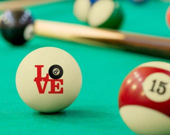 Valentine's Day Gift - Love 8-Ball Cue Ball