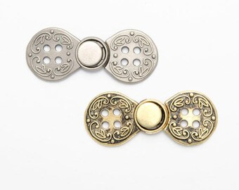 2 Norwegian closures style buttons Brandenburgs