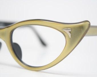 Green cat eye eyeglasses  vintage cat eye glasses frames Cateye frames