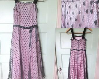 Vintage Lace Dress, Vintage Pink Dress, Pink, Black Lace, Retro, Dress, Sleeveless, Girls Dress, Spring, Pink Dress, Valentine Dress