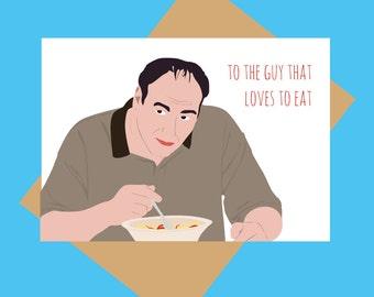 Sopranos card - Tony Soprano - Funny Father's Day card