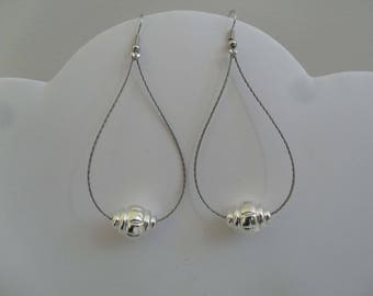 NEW COLLECTION earrings drop Pearl silver costume jewelry