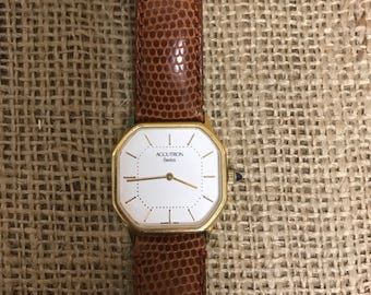 Accutrain Swiss Watch With Gucci Band