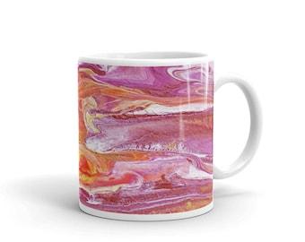 Mug, Fine Art Coffee Mug, Abstract Painting Mug, Gift for Art Lover, Gift for Boss, Teacher Gift, Secret Santa Gift, Mother's Day Gift Mug