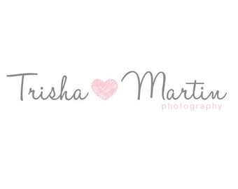 Pre-made Logo Design & Watermark - Logo Template for Branding - Heart logo - Graphic Design - Photography Logo - Heart Watermark 244