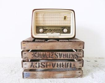 Tube radio 50 s / vintage radio / radio de lion