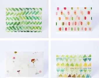 Translucent Watercolour Letter Writing Envelope Set