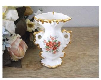 Handmade Vase - Mini Porcelain Hand Painted Vase - 1968 - Artist Signed