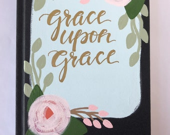 Prayer Journal - Journal - Hand Painted Journal - Personalized Journal - Notebook - Personalized Gift - Christian Gift - Graduation - Grace