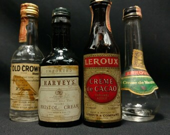 Vintage Apothecary Alcohol Bottles