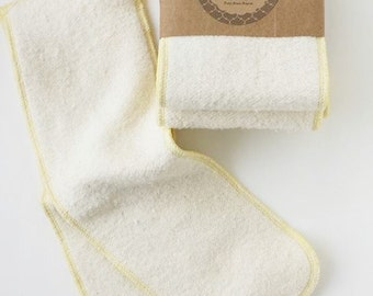 Hemp and organic cotton fleece, snap-in cloth diaper liner, soaker, insert