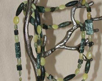 Grassy Green Wrap Around Necklace