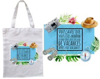 """TOTE BAG 100% cotton """"you know you're MOM..."""""""