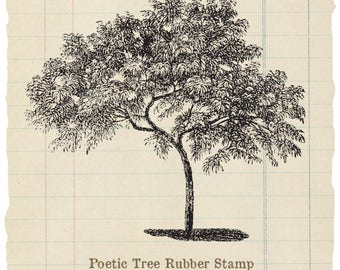 Poetic Tree Unmounted rubber stamp