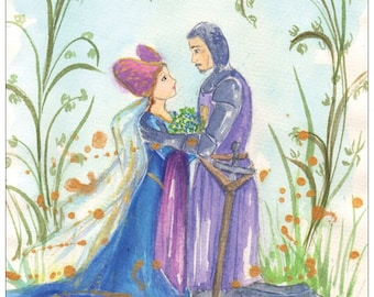 The Legend of Forget-me-not postcard