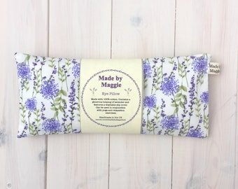 Lavender Eye Pillow for Yoga and Relaxation, Eye Pillow with Removable Slip Cover, Lavender-scented pillow with slip cover