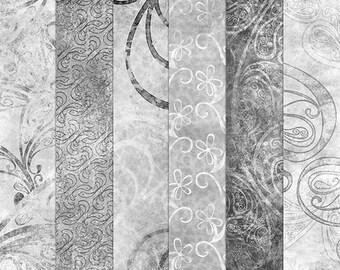Digital Paper Templates - 12x12 300dpi background textures - Instant Download