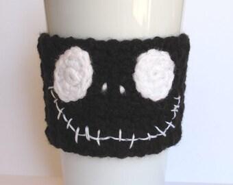 Crochet Black Skeleton Coffee Cup Cozy