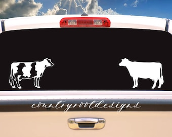Dairy Cow Decal, Dairy Cow, Livestock Show, Tumbler Decal, Car Decal, FFA, Show Cattle, 4-H, Laptop Decal, Dairy, Cattle, Livestock Decal