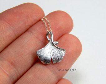 Ginko necklace, ginko leaf necklace, gold leaf necklace