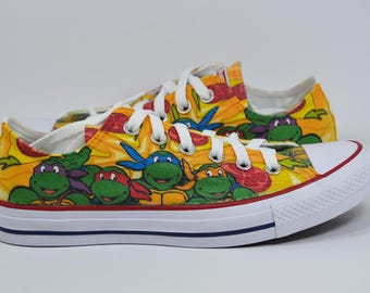 Teenage mutant ninja turtles custom converse / tmnt pizza