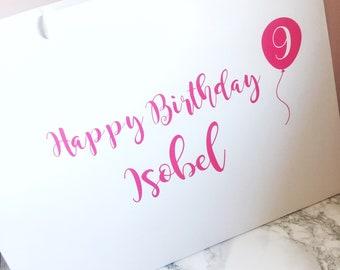 Birthday Bag, Gift Bag with name and age, personalised gift bag, party bag with name, happy birthday bag, personalised birthday bag,
