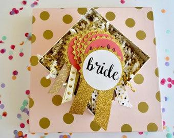 Gold Glitter Bachelorette Party Pins, Bachelorette Party Decorations