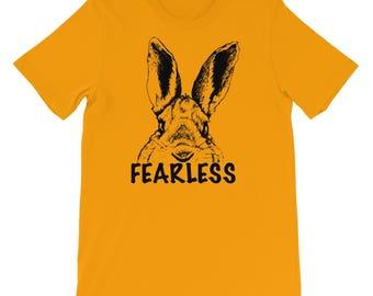 Fearless Rabbit Tshirt, Funny Animal Shirt, Fearless Shirt, Funny Rabbit Shirt