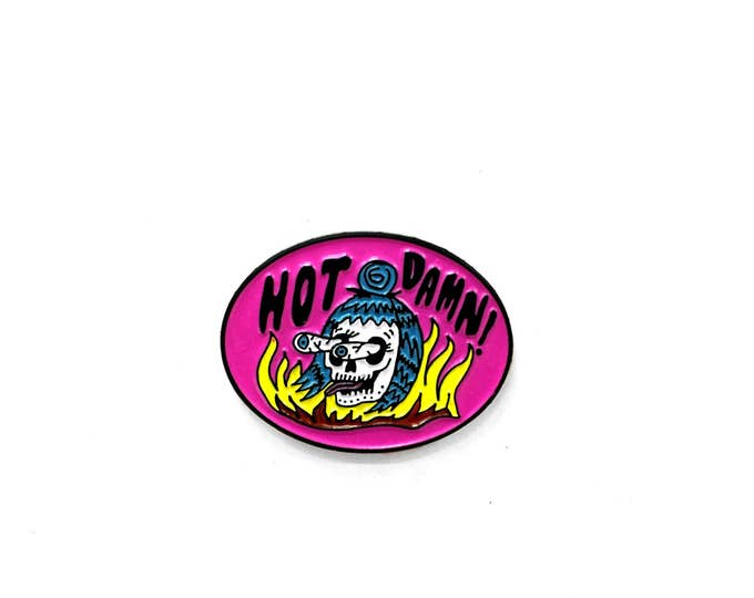 HOT DAMN! Enamel Pin