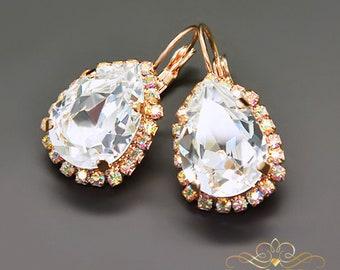 Swarovski Crystal Earrings Statement Earrings Bridal Earrings Bridesmaid Gift Dangle Earrings Drop Earrings Gift for Her Wedding Jewelry