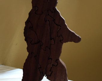 Wooden puzzle Grizzly bear