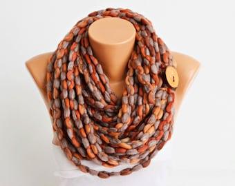 lariat scarf, infinity chain scarf,  lariat  scarf,